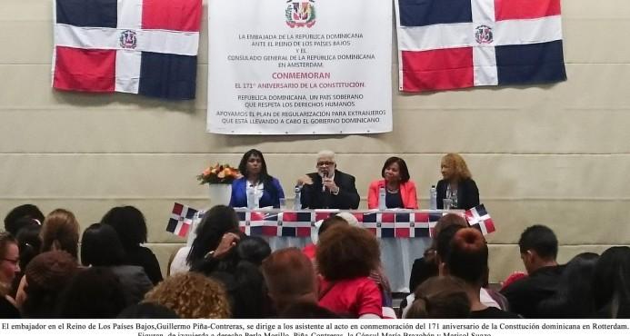 Celebración del 171º aniversario de la Constitución de la República Dominicana en los Países Bajos